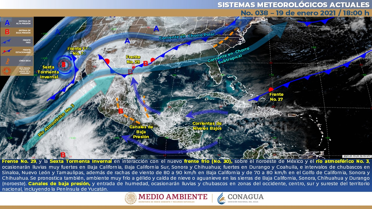 Entrada de frente frío traerá nublados y viento en la mayor parte de Guanajuato