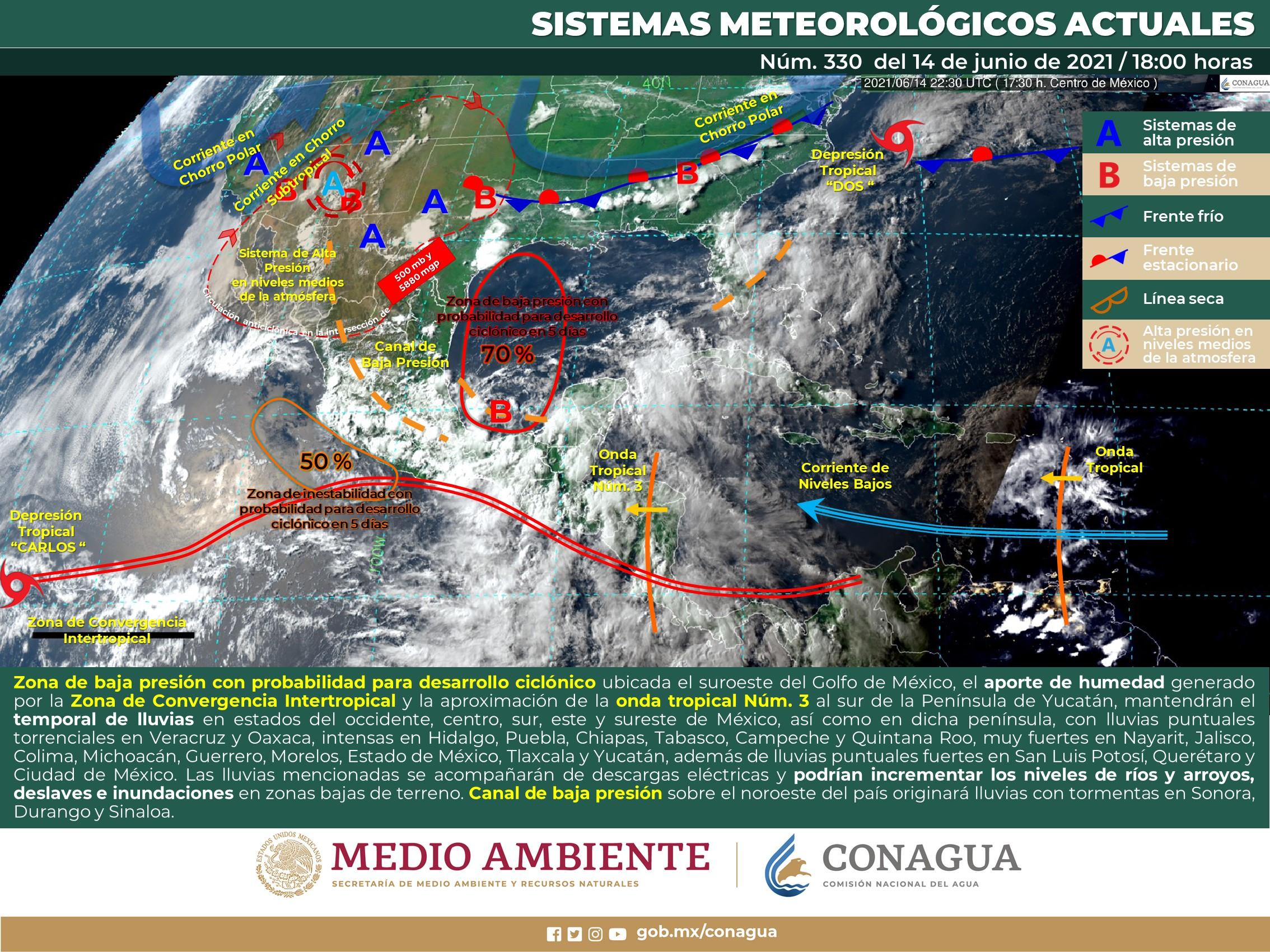 Nublados y baja a 15% probabilidad de lluvia este martes en Guanajuato